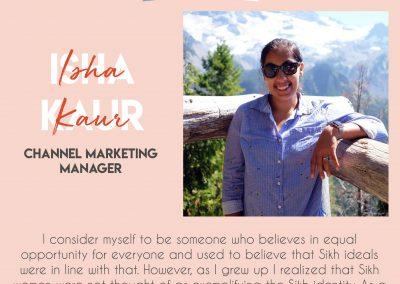 Isha Kaur - Channel Marketing Manager - How Kaurs Lead