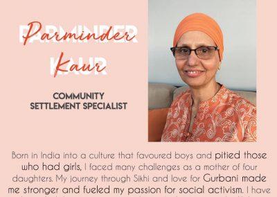 Parminder Kaur Community Settlement Specialist - How Kaurs Lead